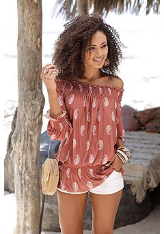 Smocked Carmen Top product image (X34135.APWH.X37012.WH.P1)