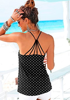 Strappy Back Tank Top product image (X34141-BDOT-01)