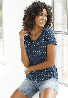 2 Pk Printed Tops product image (X34154-WHNV-01-S)