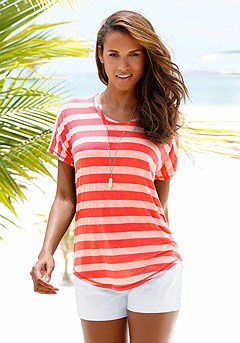 Striped Short Sleeve Top product image (X34155-CO-00)