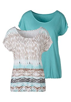 2 Pk Cold Shoulder Tops product image (X34163.MTCR.3)