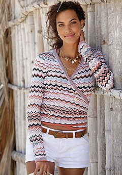Boho Wrap Look Cardigan product image (X34399.MUPR.P.1022)