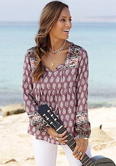 Boho Long Sleeve Top product image (X34427PUMU_1)