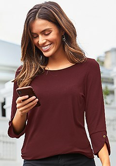2 Pk 3/4 Sleeve Tops product image (X34453BYNV_2)