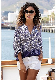 Long Sleeve Boho Blouse product image (X34455MUPR_1)