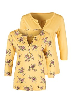 2 Pk 3/4 Length Sleeve Tops product image (X34468.YL_3)