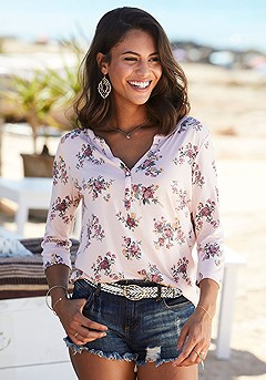 2 Pk 3/4 Length Sleeve Tops product image (X34468RS_1)