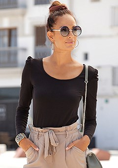 Puff Sleeve Top product image (X34481BK_1)