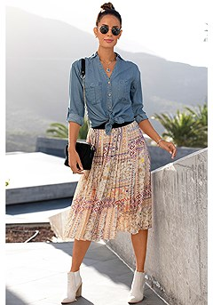 Pleated Boho Midi Skirt product image (X34516DE_X50055MUPR_1.1)