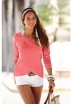 Soft Knit Wrap Sweater product image (X36001-CO)
