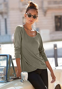 Soft Knit Wrap Sweater product image (X36001-KH_1)