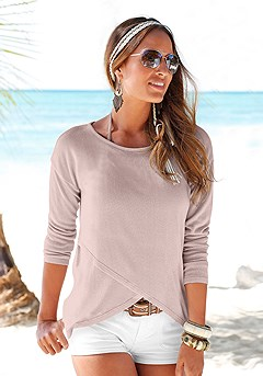 Soft Knit Wrap Sweater product image (X36001-SA_01)
