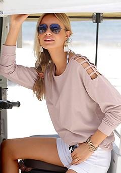Cold Shoulder Sweater product image (X36020-ODRS-00)