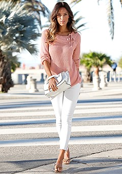 Lace Up Detail Sweater, Lace Up Jeggings product image (X36022-ODRS-00-S)