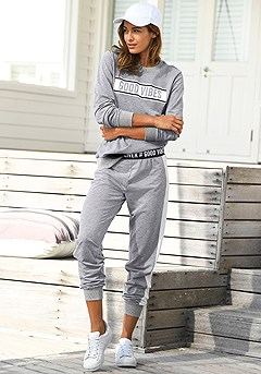 Good Vibes Sweatshirt, Good Vibes Trim Sweatpants product image (X36024-GYMO-0-S)