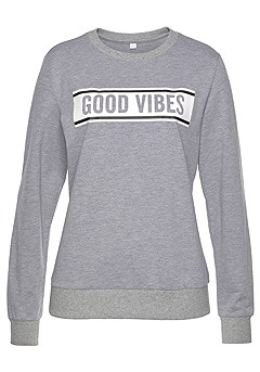 Good Vibes Sweatshirt product image (X36024-GYMO-1-S)