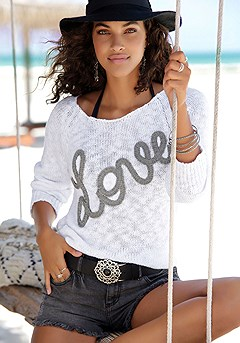 Love Applique Sweater product image (X36057WHPR-S)