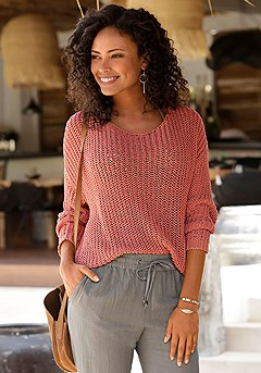 Loose Knit Sweater product image (X36059RD)