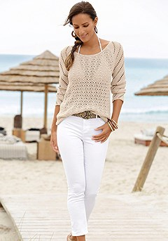Open Knit Sweater product image (X36060.SA.X38041.WH.1)