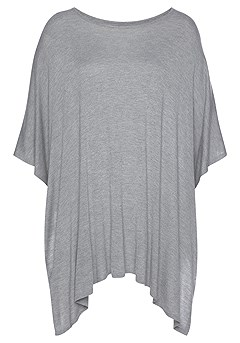 Ribbed Poncho-Look Sweater product image (X36066GYMO_2)