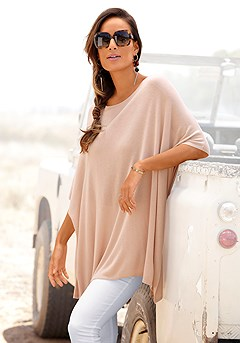 Ribbed Poncho-Look Sweater product image (X36066SA_1)