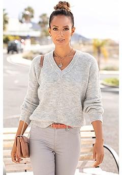 Beaded Back Sweater product image (X36070-GYMO)