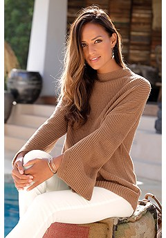 Flare Sleeve Sweater product image (X36077CG_1)