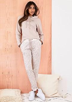 Zebra Print Lounge Pants, Vibes Hoodie product image (X36078.NG.X38211.NGZE_I)