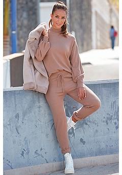 Casual Drawstring Pants, Bishop Sleeve Sweater product image (X36088CG_X38218CG_1.1)