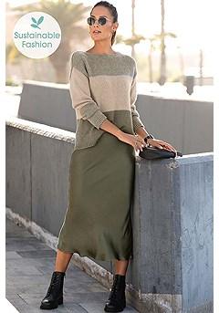 Satin Look Midi Skirt product image (X36089BE_X50055KH_1.1)