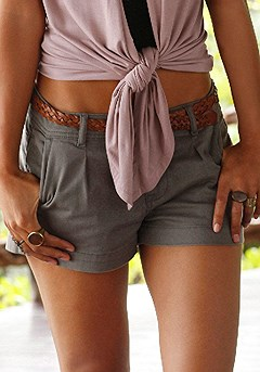 Off Shoulder Carmen Top, Casual Cuff Shorts product image (X37002-OL_03)