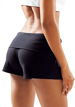 Basic Flip Waist Shorts product image (X37003-BK_00)