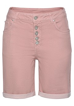 Keyhole Detail Top, Faux Pocket Bermuda Shorts product image (X37013-MV-00)