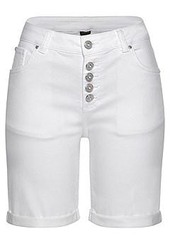 Faux Pocket Bermuda Shorts product image (X37013-WH-02)