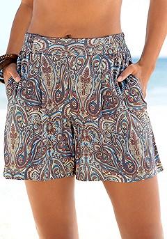 Flowy Paisley Shorts product image (X37033MUPR)