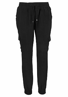 Drawstring Waist Pants product image (X38013-BK_00)