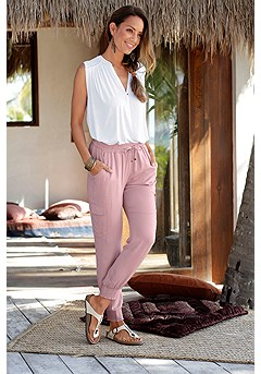 Drawstring Waist Pants product image (X38013.MV.1)