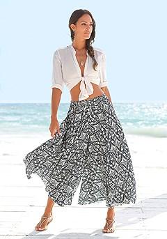 Print Flare Skirt Pants product image (X38018MUPR_2_M)