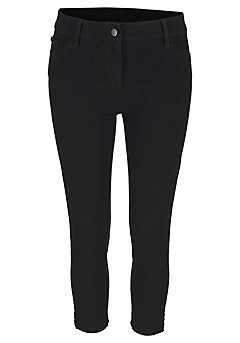 Skinny Leg Cropped Pants product image (X38041.BK.02)