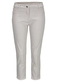 Skinny Leg Cropped Pants product image (X38041.GY.02)