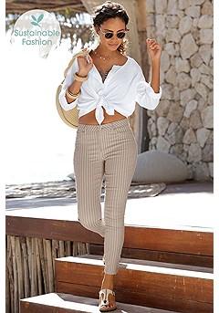 Skinny Leg Capri Pants product image (X38041.WHST.X34404.WH.1)