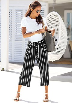Tie Waist Striped Culottes product image (X38053-BWST-00)