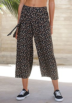Multi Print Culottes product image (X38054.BKPR.1)