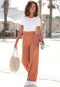 High Waist Palazzo Pants product image (X38180.AP.X34134.BKWH.1)