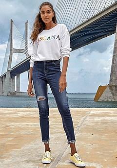 Round Neckline Sweatshirt product image (X38188DE_and_X36061WHPR_2)