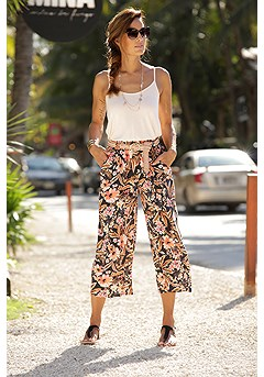 Tropical Mix Print Culottes product image (X38193.BKPR.1)