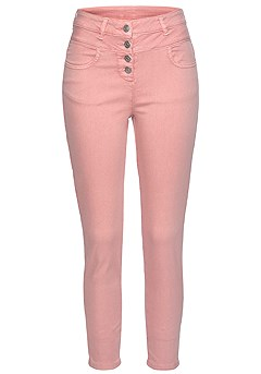 Button High Waist Jeggings, Eyelet Sleeve Blouse, product image (X38196.ODRS_3)