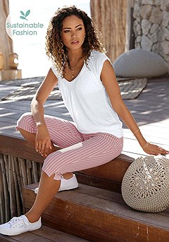 Striped Capri Pants product image (X38201RSWH_1)