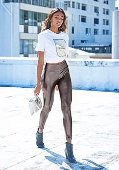 Shiny High Waist Leggings product image (X38203.SL_1)