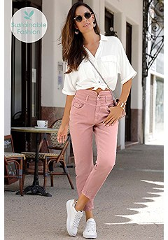 Cropped High Waisted Jeans product image (X38210.MV.X34465.WH.1)